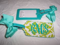 Personalized Luggage Tag at Etsy.com    Sooo in love!