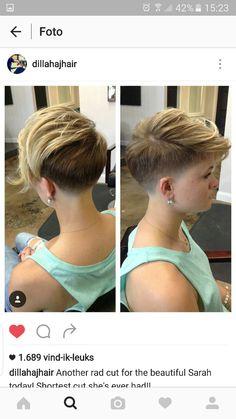 Short hair pixiecut undercut