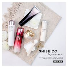 Pamper your skin with Shiseido Skincare. Enjoy 25% off all Shiseido items with free delivery above $40. #BeautyFreshFave #Shiseido #Skincare #Beauty
