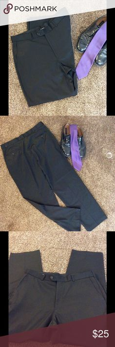 Men's Alfani Dress Pants Black.  Worn only a couple of times.  Slightly textured material.  Size 36 X 32. Great used condition Alfani Pants Dress