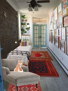Ideas For My Bedroom Narrow Small Railroad Apartment