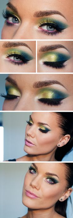 Todays look – I can't feel it, I can't feel it | #colorful #dramatic #shimmer