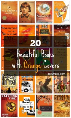 Tired of reading books with boring covers? Spice it up and read the rainbow! This week, we're featuring orange books.