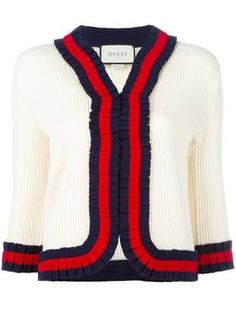 Gucci Bee Motif Striped Wool Sweater found on Polyvore featuring ... 98012e5bd