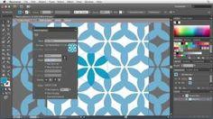 Illustrator CS6: Using the Pattern Options tool | lynda.com tutorial, via YouTube.
