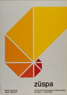 H. Denzler — Züspa (1964) #design #graphicdesign #vintage