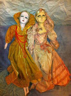 2 Vintage Boudoir Dolls 1930 Antique Paris Vieille Poupee En Chiffon Ancienne | eBay