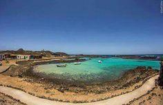 Islote de lobos. Islas canarias. España.
