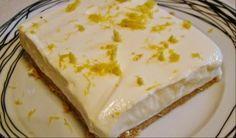 Λεμονογλυκό με μπισκότα και γιαούρτι με 5 μόνο υλικά σε 10 λ. Μια πολύ εύκολη συνταγή