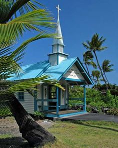 St. Peter's Church along the west coast just south of Kailua-Kona  in Hawaii