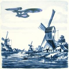 The history of the Delft blue tile, including a geeky anachronism! I absolutely love this stuff.  Must be the Dutch in me