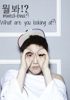 Vingle - What are you looking at!? (Featuring Suho) - K-Idol Flashcards! Learn Korean With K-Entertainment!