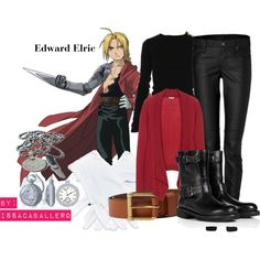 """Edward Elric - fullmetal alchemist"" by issacaballero on Polyvore"