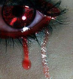 crying red eye make up