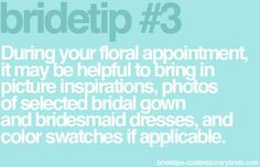 Helpful tips for wedding planning!
