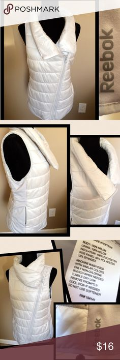 Like New Reebok Light Gray Vest, L Reebok light gray zip vest, sise L, very soft and comfy, like new, stretch Knit siding  WILL BUNDLE FOR ADDITIONAL DISCOUNT ON SHIPPING AND CLOTHING Reebok Jackets & Coats Vests