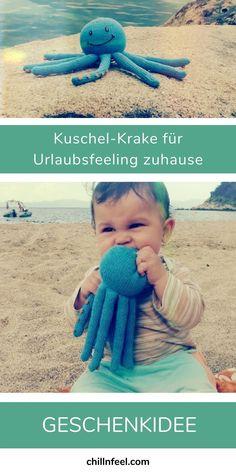 Urlaub zuhause kann so schön sein ... mit Kuschel-Krake Tinto aus Bio-Baumwolle und echter Handarbeit. Chill n Feel // Krake // Kraken // Oktopus // Kuscheltier // Urlaub mit Kindern // Urlaubsfeeling // Meer // Fernweh // Babygeschenk // Biobaumwolle // Fairer Handel #chillnfeel #krake #kraken #oktopus #kuscheltier #urlaub #urlaubmitkindern #urlaubsfeeling #meer #fernweh #babygeschenk #biobaumwolle #fairerhandel Kraken, Babys, Chill, Handmade, Gifts For Children, Baby Favors, Octopus, Babies, Hand Made