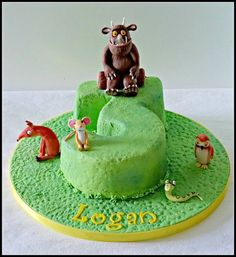 The Gruffalo - Cake by claire mcdonough Barney Birthday Cake, 3rd Birthday Cakes, Diy Birthday, Third Birthday, Birthday Ideas, Gruffalo Party, The Gruffalo, Wedding Cakes With Flowers, Cake Flowers