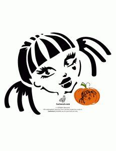 Draculaura Monster High Doll Pumpkin Template
