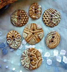 Sharilyn Miller: NEW Handmade Ceramic Buttons!