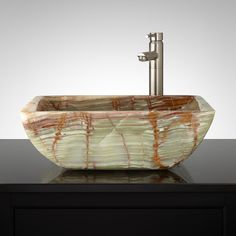Micca Green Onyx Vessel Sink - Bathroom Sinks - Bathroom