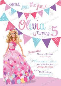 Barbie Birthday Invitation Barbie Invitations Barbie Birthday Invitations Barbie Birthday Party