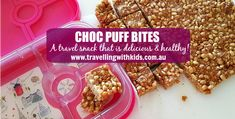 Healthy Chocolate LCM Bars - Caravanning with Kids Healthy Travel Snacks, Healthy Treats, Healthy Eating, Healthy Chocolate, Snack Recipes, Lunch Box, Lunchbox Ideas, Pop, Baking