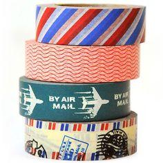 Masking tape print, washi tape