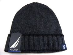 Nautica Fold Cuffed Dark Gray Beanie Skullie Winter Ski Hat Men/Women One Size by NAUTICA. $29.99. Authentic Nautica Merchandise. Acrylic/Wool