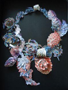 Anes Kim - paper jewels 2011 Central St Martins - http://www.aneskim.com