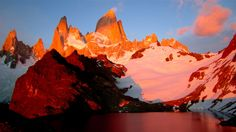 Fitz Roy at sunset // Artful Venture