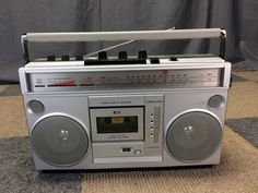 MONTGOMERY WARD GEN-3995A GHETTO BLASTER BOOMBOX CASSETTE PLAYER 8-TRACK LINE-IN #MontgomeryWards Montgomery Ward, Boombox, Vintage Antiques, Computers, Track, Technology, Electronics, Ebay, Tecnologia