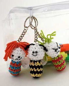 These quirky and fun keyring charms can go almost anywhere, from backpacks and keychains to zipper pulls and loot bags.
