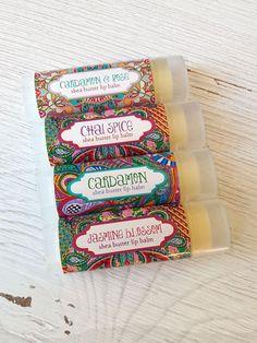 Cardamom Spice Lip Balm Shea Butter Lip Balm // Natural Lip