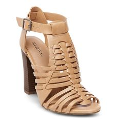 Women's Missi Caged Heel Sandal Pumps Merona - Tan