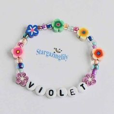 Children's Jewelry Bracelet PERSONALIZED Name Bracelet Party Favor Infant Baby Child Kid Toddler Flower Leis Luau. $4,25, via Etsy.