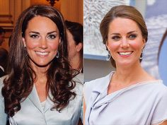 KATE MIDDLETON  The Duchess of Cambridge favors long, glossy waves (and who can blame her, with that killer mane?) – but her lovely low chignon was a welcome departure from her signature style.