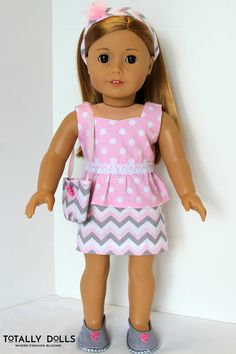 "American Girl Doll Clothes - Valentine's Day - ""Sweet Pea"" Outfit by Totally Dolls"