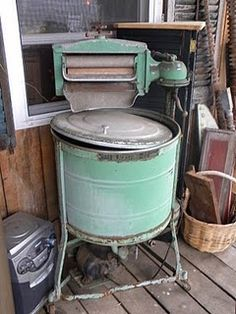 The Old Washers Make Fabulous Coolers for Parties, They Could Easily Be Used as a Focal Point in the Garden, with Flowering Vines Dripping over the Side.  Lots of Uses for the Old Washers!