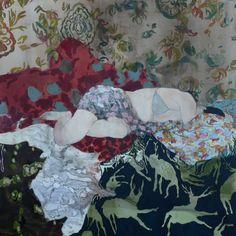 Florence Dussuyer, Antoinette, technique mixte sur toile, 200 x 200 cm, 2015