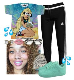 """""""cheify"""" by bbylex23 ❤ liked on Polyvore featuring adidas, Lime Crime and ZeroUV"""