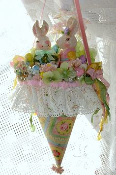 Honey Bunny Easter Tussie Mussie by treasured2 on Etsy