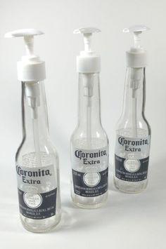 Alcohol Bottle Crafts, Alcohol Bottles, Wine Bottle Crafts, Bottle Art, Spray Bottle, Glass Bottles, Beer Bottle, Bedazzled Liquor Bottles, Beer Bar
