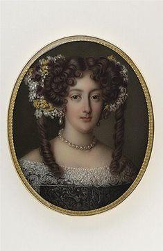 Hortense Mancini miniature portrait (location unknown to gogm) | Grand Ladies | gogm