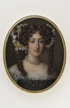 Hortense Mancini miniature portrait (location unknown to gogm) | Grand Ladies | gogm