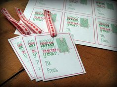 Free FREE Printable Baking Labels and Gift Tags for Christmas with Gingerbread and Trees - Crafty Carnival