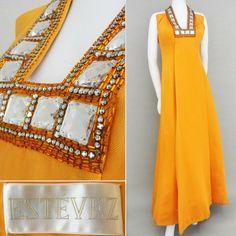 ef92dc4325 Vint Estevez beaded rhinestone topaz formal dress red carpet structural  beauty S #fashion #clothing