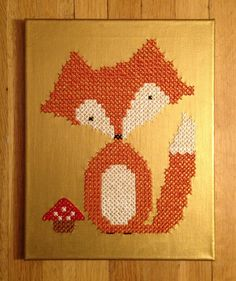 ... Fox Cross Stitch by elsabags on Etsy