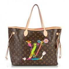 This is an authentic LOUIS VUITTON Monogram Murakami Moca LV Hands Neverfull GM. This chic tote was created for the Los Angeles Museum of Contemporary Arts by artist Takashi Murakami featuring his vibrant print embellishment on top of classic Louis Vuitton monogram on toile canvas.