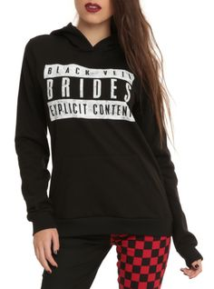 """Pullover hoodie from Black Veil Brides with an """"Explicit Content"""" label design. Love it so much"""
